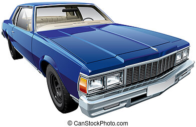 Vintage American hardtop coupe - High quality vector image...