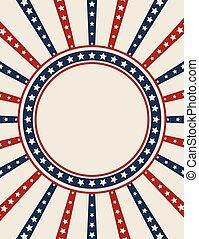 Vintage American patriotic banner