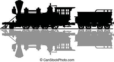 Vintage american steam locomotive