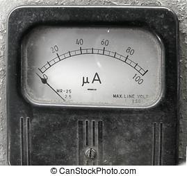 Vintage Ampere Meter - An old corroded ammeter for measuring...