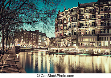 Vintage Amsterdam in Twilight