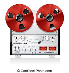 Vintage analog Stereo reel to reel tape deck player recorder...
