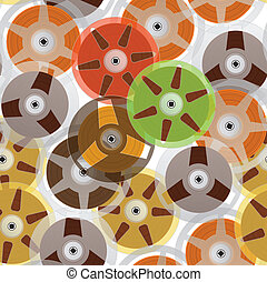 Vintage analogue music recordable babin. Seamless background