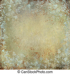 vintage and grunge texture with ivy foliage and faded...