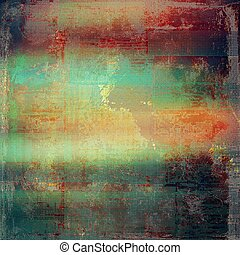 Vintage and retro design elements on faded grunge background. With different color patterns: brown; green; red (orange); purple (violet); gray; pink