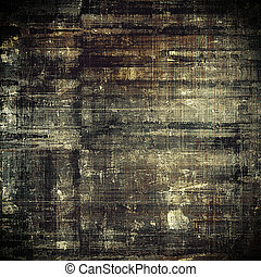 Vintage and retro design elements on faded grunge background. With different color patterns: yellow (beige); brown; black; gray