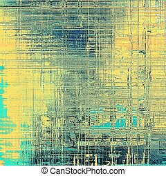 Vintage and retro design elements on faded grunge background. With different color patterns: yellow (beige); blue; gray; cyan; black