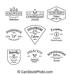 Vintage and retro style logos and labels set