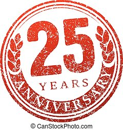 Vintage anniversary 25 years round