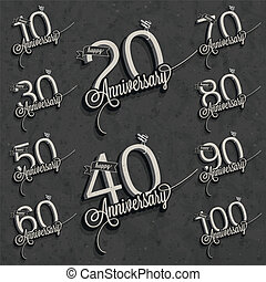 Vintage anniversary collection