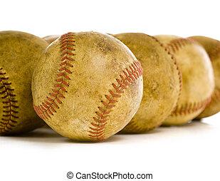 Vintage, antique baseballs