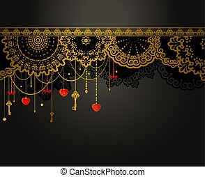 Antique Key tapestry background