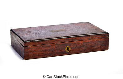 Vintage antique protractor box on