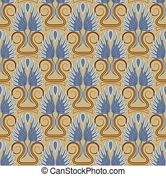 Vintage antique seamless pattern. For gift packaging design textiles scrapbooking.