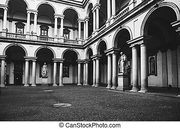 vintage antique style courtyard in the monuments and...