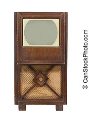 Vintage Antique TV Isolated