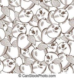 Vintage Apple Seamless Pattern
