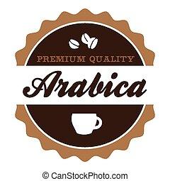 Vintage Arabica Coffee Label