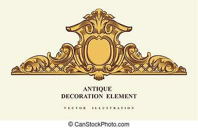 Vintage architectural Decoration elements for design. Vector illustration