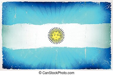 Vintage Argentina Flag Poster Background