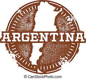 Vintage style stamp featuring the South American country of Argentina