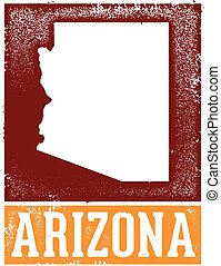 Vintage Arizona Stamp Sign