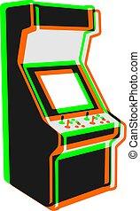 vintage art color arcade machine