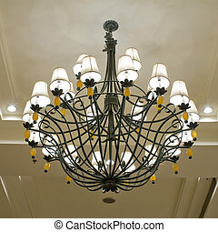 Vintage art deco ceiling lamp