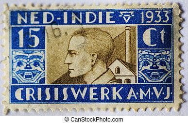Vintage art nouveau postage stamp