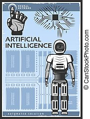 Vintage Artificial Intelligence Poster