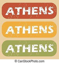 Vintage Athens stamp set