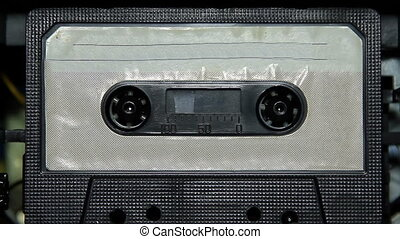 vintage audio cassette tape with a blank label