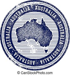 Vintage Australia Country Tourism Stamp