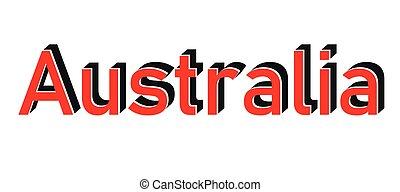 Vintage Australia Country Travel Stamp