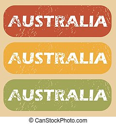 Vintage Australia stamp set