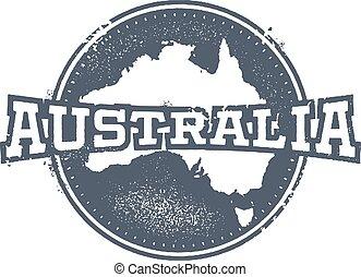 Vintage Australia Stamp