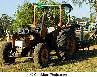 Vintage Australian tractor used in agriculture in Australia
