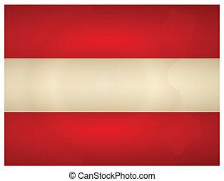 Vintage Austria Flag. Vector illustration.