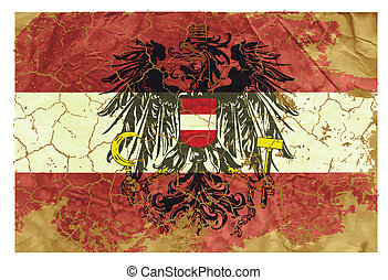 Vintage Austrian flag