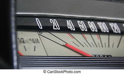 vintage auto, speedometer.