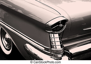 vintage auto, staart, lam