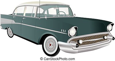 Vintage Automobile - A Vintage American automobile from the...
