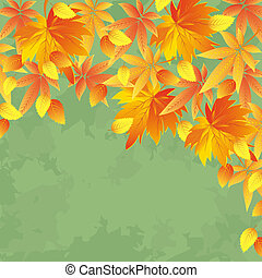 Vintage autumn background, leaf fall