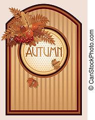 Vintage autumn background, vector