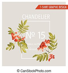 Vintage Autumn Graphic Design - for T-shirt, Fashion, Prints - in Vector