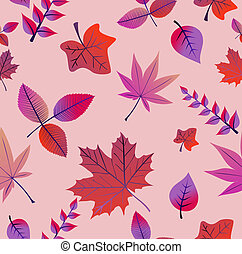 Vintage autumn leaves seamless pattern background. EPS10 file.