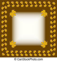 Vintage Autumnal Background - ornament from autumn leaves,...
