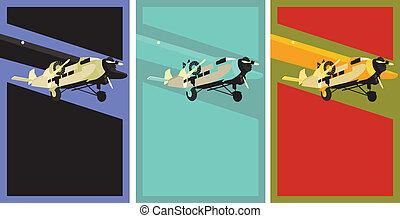 Vintage Aviation Poster