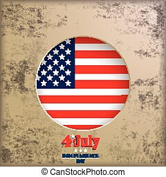 Vintage Background 4th July US Flag