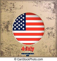 Vintage Background 4th July US Flag